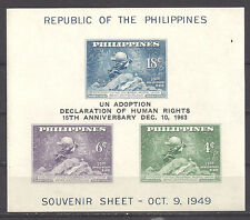 PHILIPPINES , UN , UPU , 1963 , HUMAN RIGHTS , SS OF 3 O.P. ,  PERF,  MNH