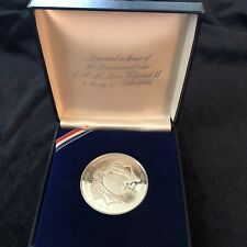 Bicenntenial Medal Queen Elizabeth Visit to Philadelphia 1976 Silver with Box