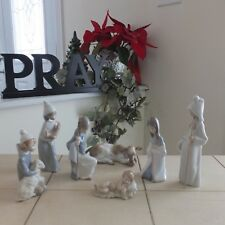 Lladro Children'S Nativity 7 Pieces Holy Family Shepherds & Cow Mint Fast Ship!