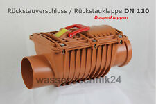 Doppelt Rückstauverschluss, Zwei Rückstauklappe Ø110   DN 100   TYP 2   TüV EN