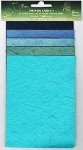 5 x Plain Greeting Card Blanks Handmade Mulberry Paper / Cardmaking / Craft