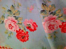 CAth Kidston 65cm/ 102cm antique rose duck egg lightweight fabric cotton remnant
