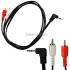 3/5Ft 3.5mm 1/8 stereo right angle male plug to 2 RCA male audio cable Adaptor