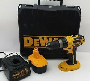 DeWalt DC725 Cordless Hammer Drill, Case, Battery, Charger and Case