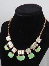 Kate Spade Gold VARADERO TILE Caribe Green Clear Collar Necklace WBRU8287 $148