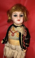 Rare Antique Unis France Doll - Fully Jointed - 6 In.