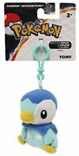 """Tomy Pokemon Piplup Plush Toy Backpack Clip Key Chain 3"""" Soft Plush - NEW"""