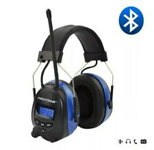 Rechargeable Safety Ear Defenders Protectors Radio Bluetooth 30 dB