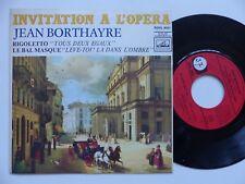 Invitation a l opera JEAN BORTHAYRE Rigoletto Tous deux egaux ROVL 9021