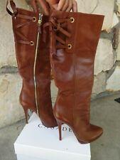Casadei Skyhigh Knee-High Boots  Brown  Leather EU size 10.5
