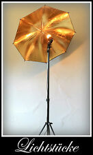 Loft Studio Objekt Steh Lampe - Leuchte gold mit dimmbarer LED und Fernbedienung