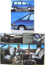 Renault Espace Tse Tdr 1985 Italiano Original Folleto
