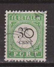 Port nr 18 type 1 gestempeld used Curacao Nederlandse Antillen due stamp