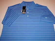 ADIDAS Mens Shirt POLO stripe Blue Size XL NEW