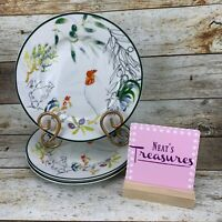 Tabletops Unlimited Gallery PROVENCE ROOSTER French Farmhouse Salad Plate Set 3