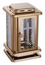 Kleine Grablaterne goldfarben  Grablampe Grablicht Urnengrab