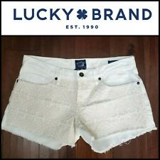 Lucky Brand Ivory Embroidery Riley Low Rise Boyfriend Fit  Shorts ~ 29 M3020