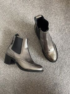 Russell and Bromley Silver Chelsea Ankle Boots Size 3 36