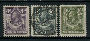 Northern Rhodesia, Scott 6 // 9 in Mixed Condition