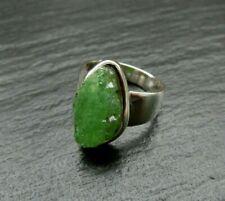 Tsavorit Granat Ring 925 Sterlingsilber Handarbeit Unikat Größe 55 R1229