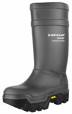 Dunlop Mens Grey Purofort Explorer C922033.05 Full Safety Wellington BOOTS 42