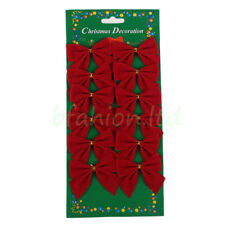 Bows Christmas Tree Decorations Xmas Bowknot Party Garden Festival Ornaments Hot