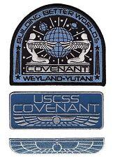 Alien Movie Prometheus Covenant Weyland Corp Crew Uniform 3PC IRON ON Patch