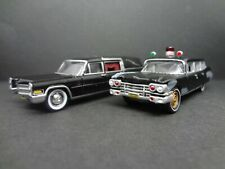 Johnny Lightning 1959 Cadillac Ambulance & 1966 Cadillac Hearse - Loose New 1:64