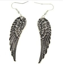 Tibet Silver Angel Wings Drop Earrings Hook Dangle Charming JT12 Unique One Pair