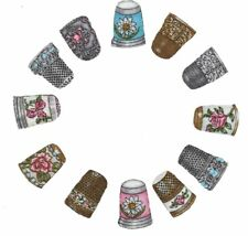 Lot Of 12 Patch Thermo Adhesive In Fabric Dice To Sew Appliques To Ironing Board