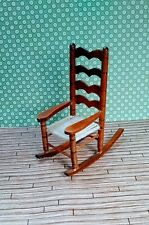 Shackman Vintage Dollhouse furniture Miniature Wood rocking chair 1:12 porch