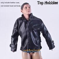 "1:6 WWII German Officier Leather Jacket Coat Black fit 12"" Soldier Action Figure"