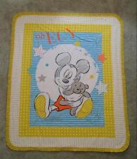 Nursery Crib Quilt/Sheet Set- Mickey Mouse & Teddybear - Oh Boy
