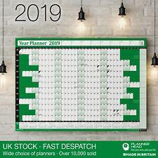 Cartel Cuadro de pared Planificador de 2019 años ✔ vacaciones y 2020 calendario ✔ ✔ Hogar, Oficina Verde