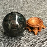 Natural astrophyllite quartz sphere crystal ball healing +stand 50mm+ 1pc YY6-2