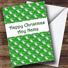 Green angels Noël Carte de vœux personnalisée