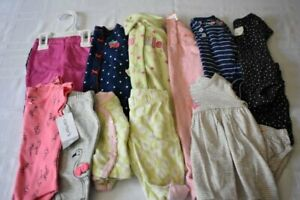 USED 14 PC. LOT OF NEWBORN BABY GIRL CLOTHES EUC/NWT