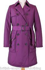 GORGEOUS DB Aquascutum Purple WADDED Raincoat uk8 rrp £450 BNWT