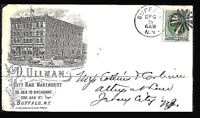 Fancy Cancel Cover ~ Buffalo Rag Warehouse Advertising ~ Cole #GR-122