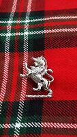 TC Highland Cap Badges/Glengarry Hat Badge Pin Lion Rampant Silver Chrome Finish