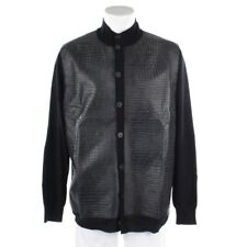 Billionaire Cardigan Size XL Gray Black Men Uppers Cardigan Knitted