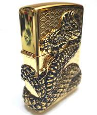 Zippo Snake Coil GOLD Lighter Genuine Original Packing 6 Flints set Free GIFT