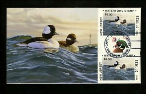 US FDC NJ New Jersey State Duck Stamp 1993 #21-22 Bufflehead Bruce Miller #25/27