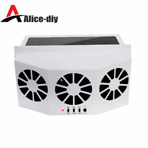 Car Truck Quiet Air Conditioner Solar Cooling Fan Cooler Cycle Exhaust Air B2AD