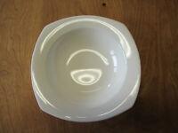 "Nikko Japan QUADRILLE ALPINE WHITE Soup Cereal Bowl 7 5/8""    3 available"
