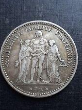 Pièce de 5 Francs HERCULE 1873 A - 3eme République - ARGENT