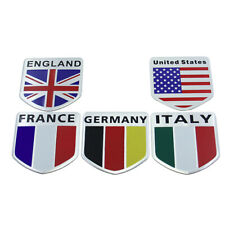 1x Universal Metal Flag Emblem Badge Sticker Car Door Fender Tailgate Decor