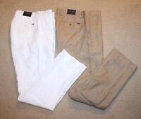 NEW Polo Ralph Lauren Classic Fit Patch Logo Linen Pants