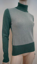 PESERICO Tricot Women's Green Wool Silk & Cashmere Polo Neck Jumper Top 44 uk12