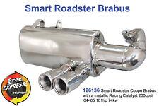 Sportauspuff Auspuff für Smart Roadster Coupe Brabus mit Racing CAT 200cpsi